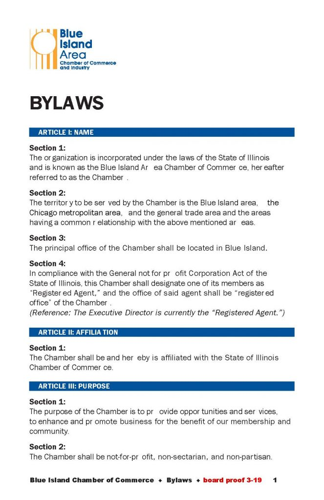 Chamber ByLaws
