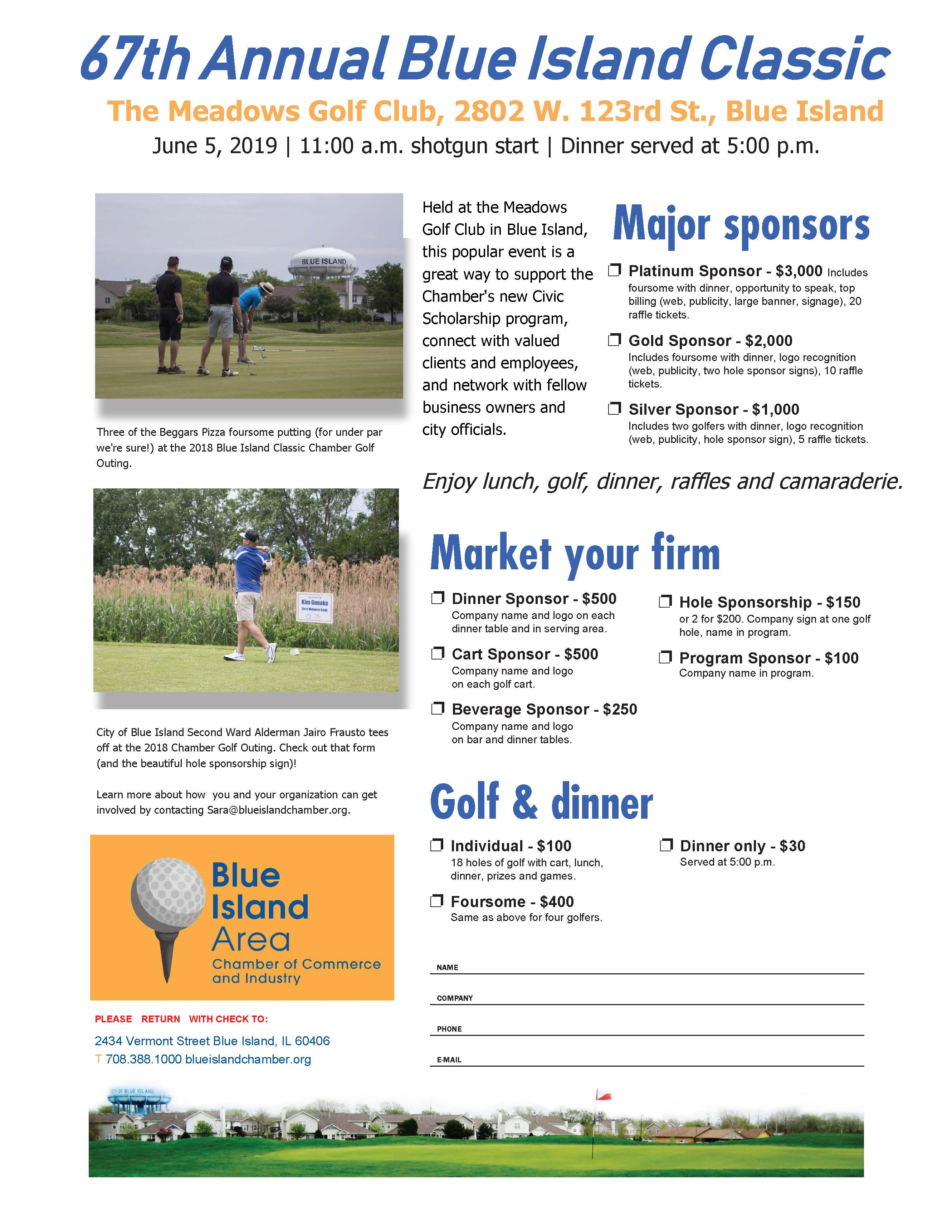 blue island chamber golf outing letter