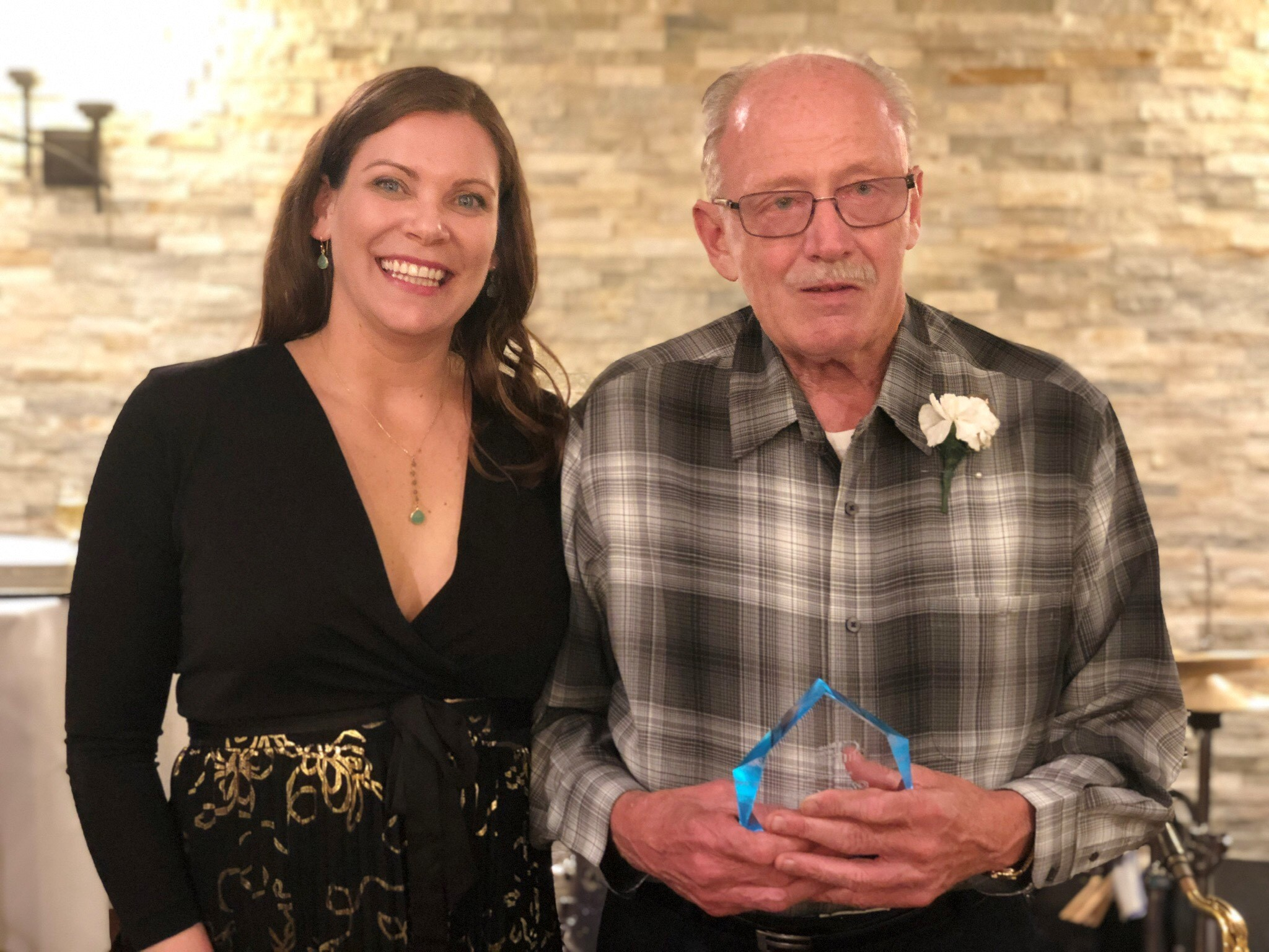 This year, we're proud to honor Rick Fiske with a Lifetime Achievement award. Since 1981, Rick has served Blue Island West Side Little League and the Untouchables as a volunteer coach, league administrator, and fundraiser, and as a role model to generations of young men from in and around Blue Island. Rick was never just a coach. He used the games of baseball and football to teach his athletes about true sportsmanship and fair play in the game of life, and to instill the importance of being a part of something larger – a team – a community. Now while he's officially retired from his positions with little league and the Untouchables, I don't think you'll find him straying too far from the fields where he spent so many sunny Saturdays giving his all to his teams. All he asks is to have games to attend, community members stepping up to help lead the programs and keep them moving forward – it's not a small request, as Mr. Fiske leaves behind some pretty large sneakers to fill.