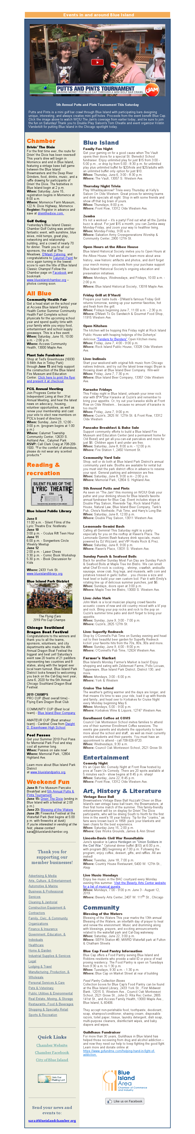 things to do June 6, 2019 Blue Island, Illinois
