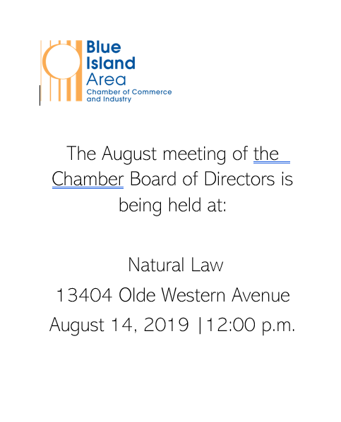 board meeting location and time august 2019