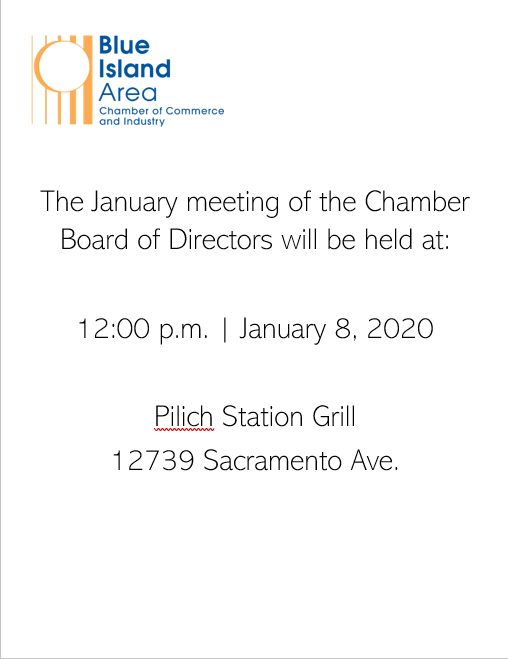 January 2020 meeting notice