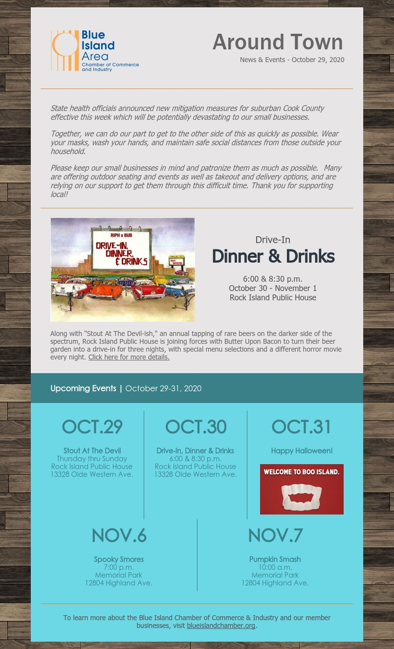 Around town October 29 Blue Island Chamber member publication